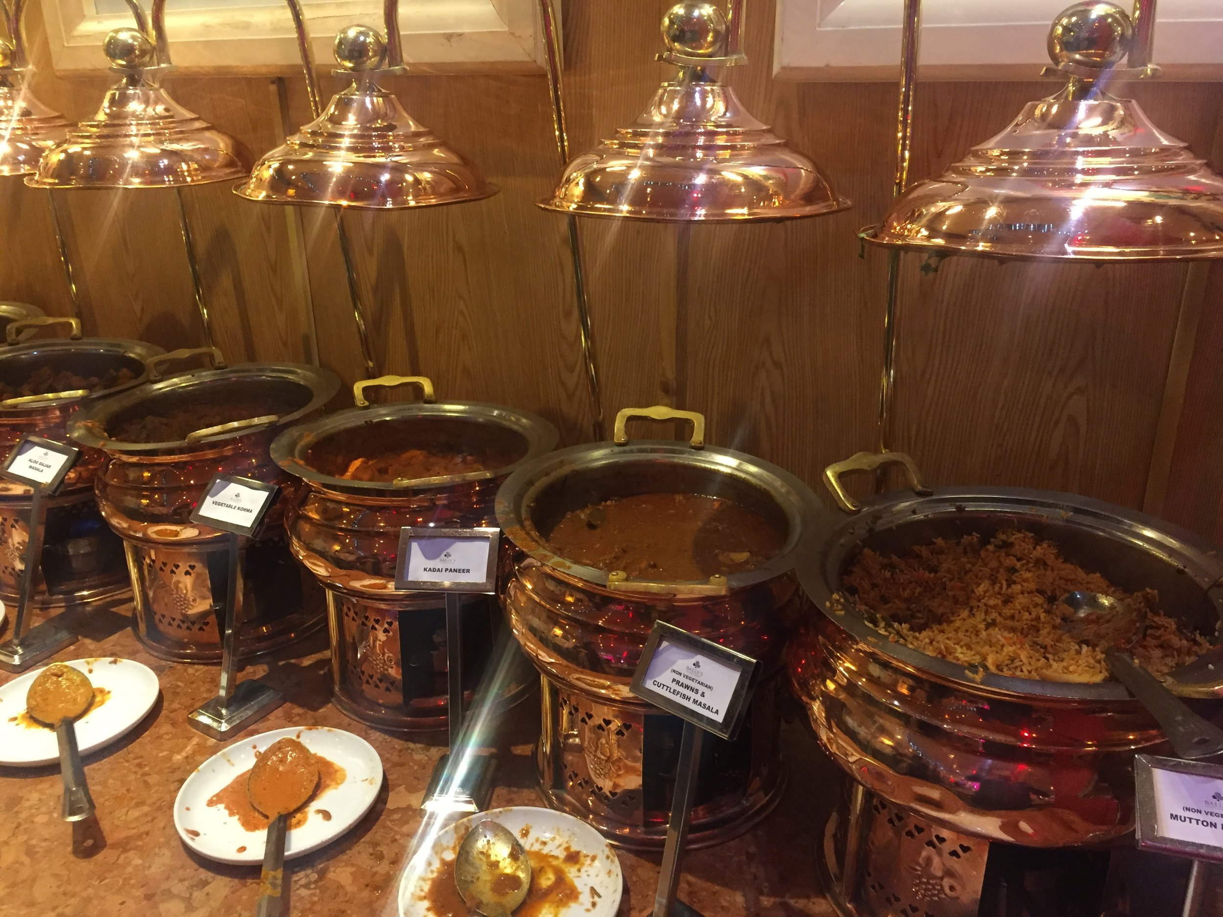 The Indian food part of the casino buffet. I realize this picture doesn't look particularly appetizing!
