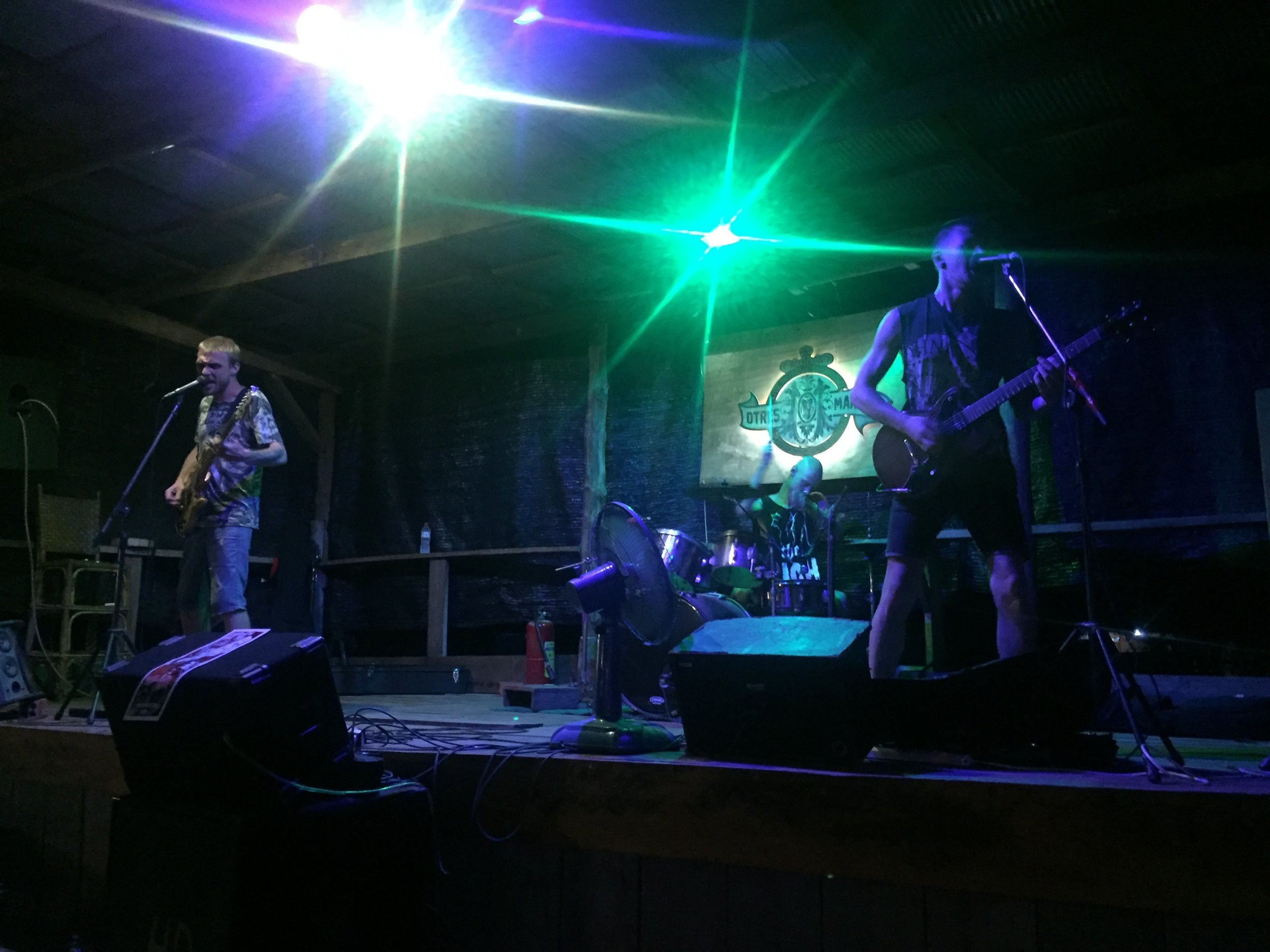 Otres Market, where they have good live music. Here's a Russian metal band.