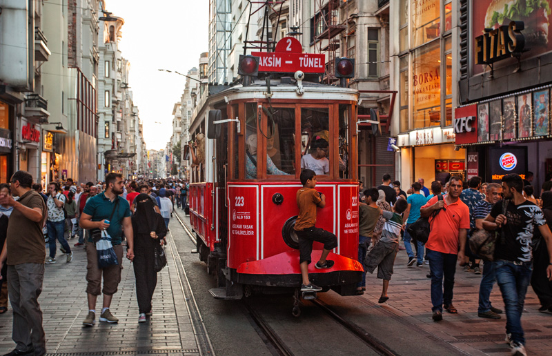 The main pedestrian street, istiklal ave.