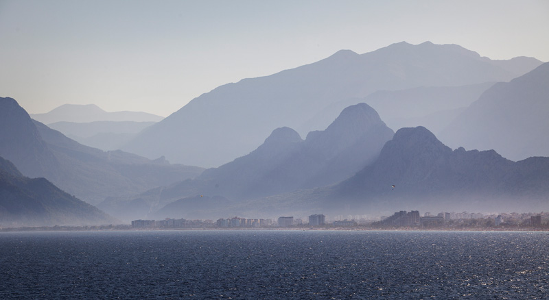 Looking across the bay from Antalya