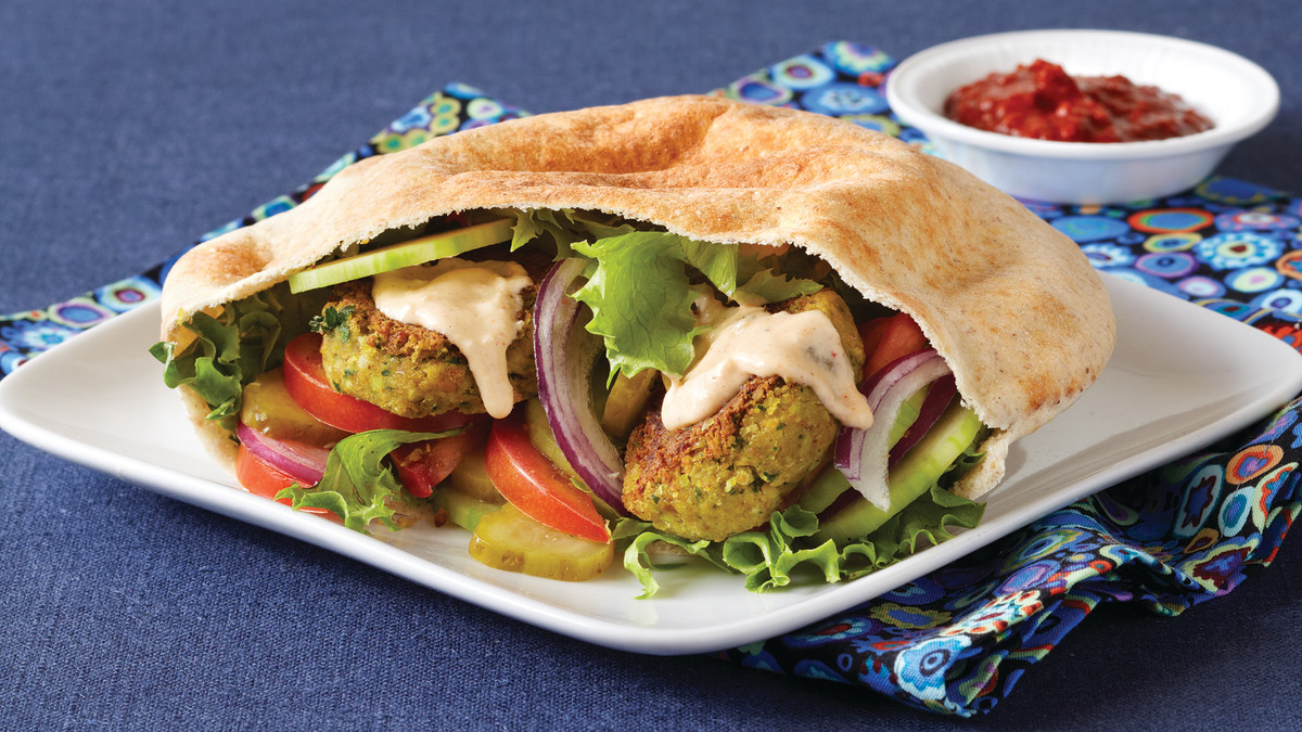falafel in pita, not my photo