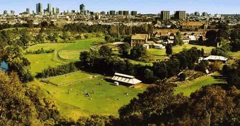 The Collingwood Children's Farm showing the open space just 4kms from the centre of Melbourne.