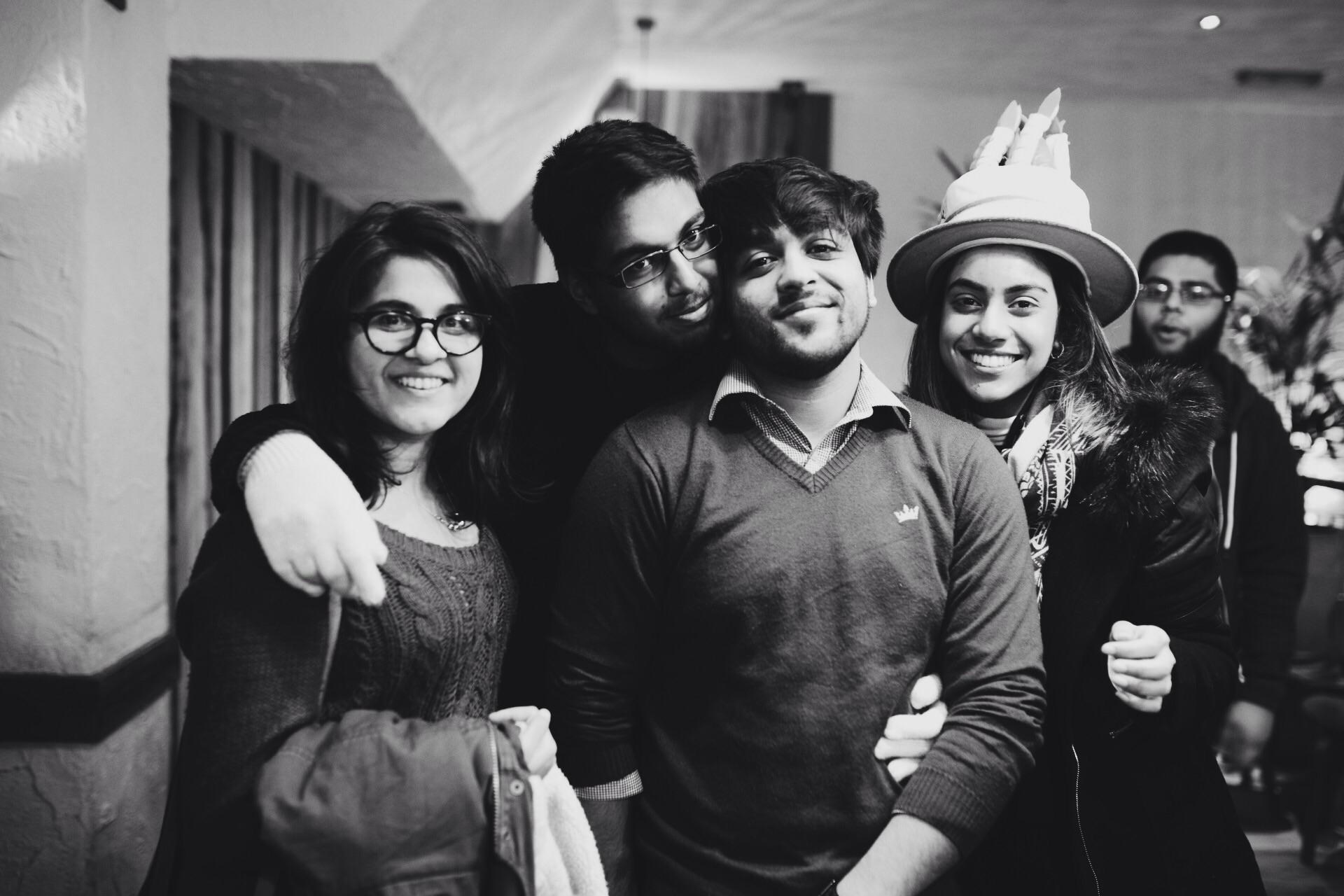 Ismaeel's Birthday: Me, Dheena, Aahuti and Saqlain
