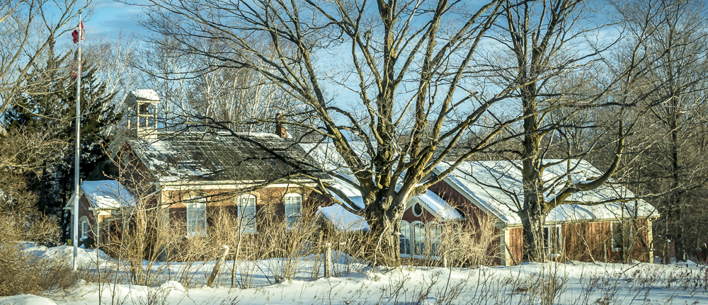 59 Old Schoolhousen In Winter
