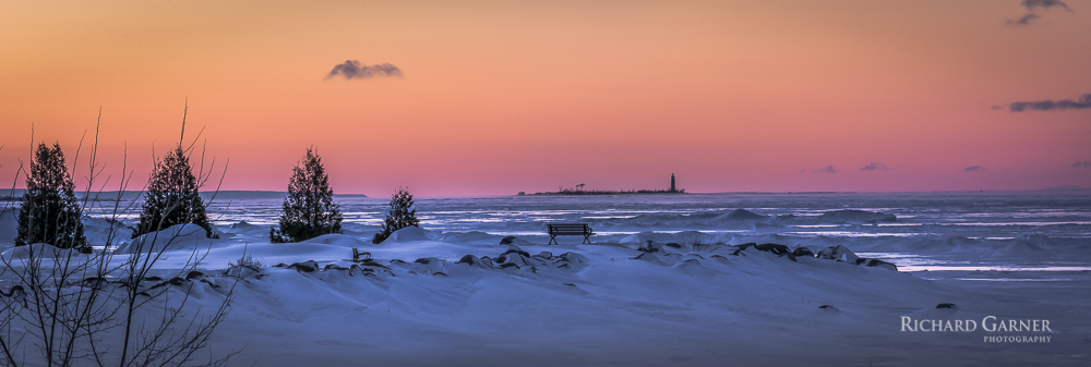 87 Lighthouse Island In Winter