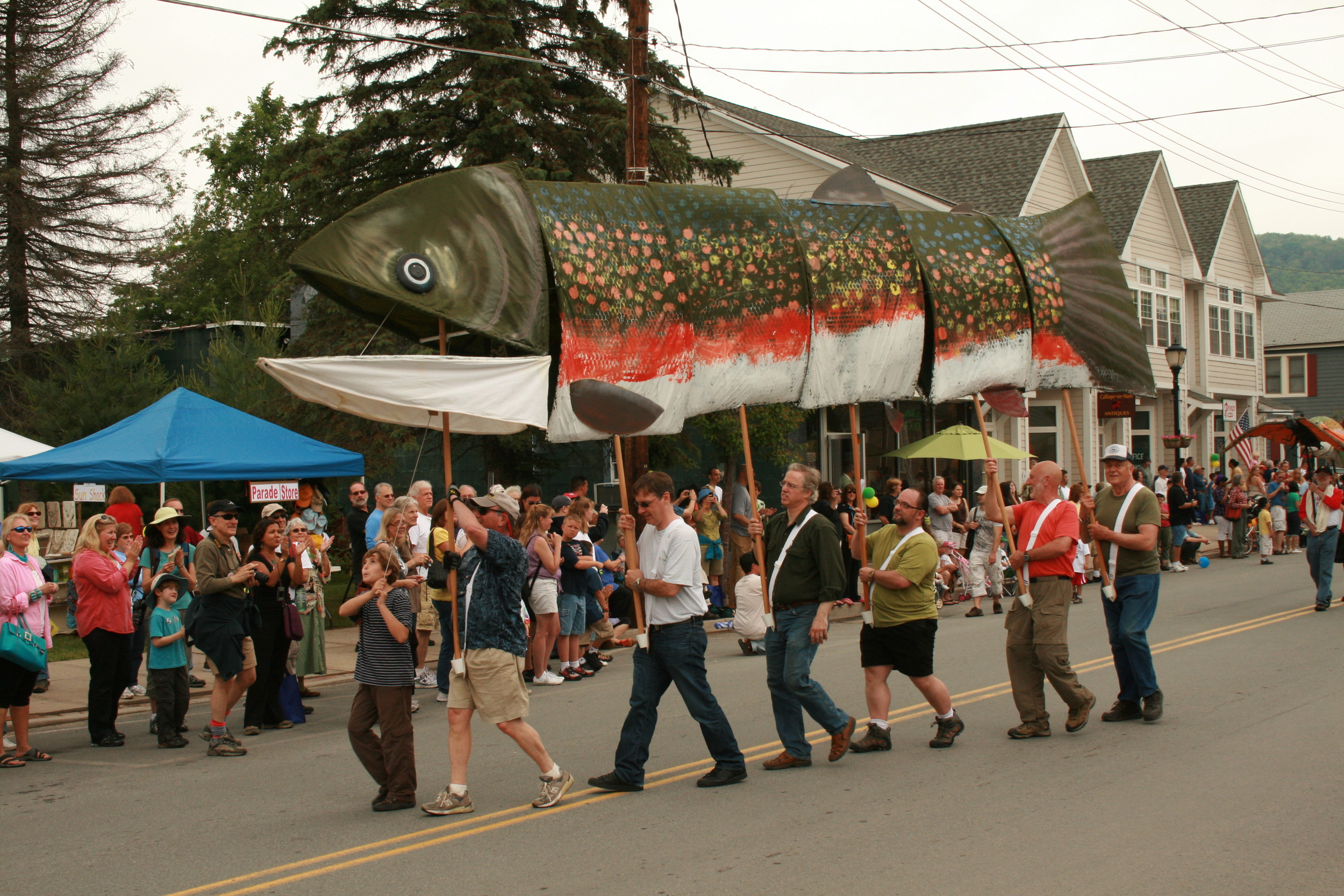 The annual Trout Parade in Livingston Manor.