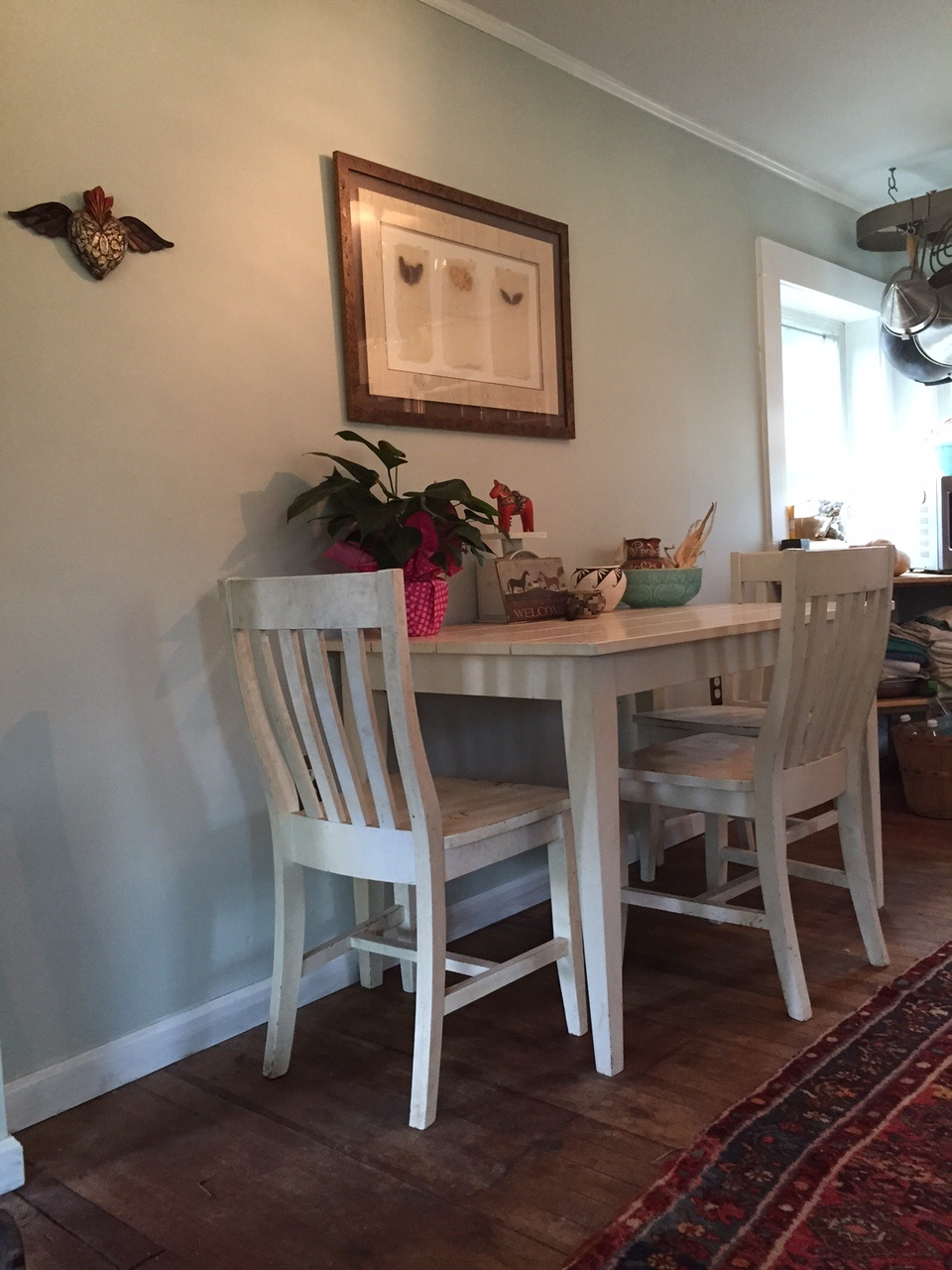 The dining nook in the eat-in kitchen