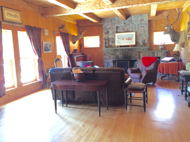 Living room evokes an era long gone...