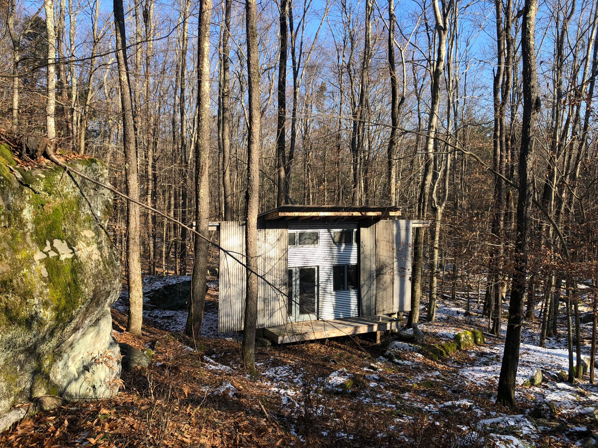 Artist studio tucked into majestic rock outcroppings