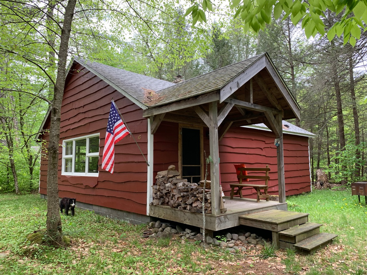The cabin, which over the summer of 2019 will morph into Blue Quill Cottage. Follow the progress at    @bluequillcottage    or on    Facebook   .