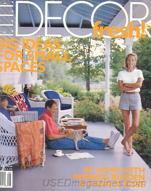 The owner on her front porch, as photographed by Elle Décor in 2000.