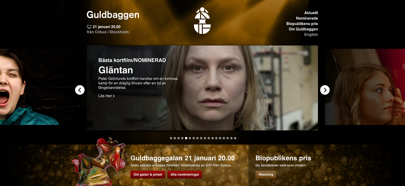 Playing the leadrole as Minna in GLÄNTAN / THE CLEARING- Nominated as best short in the Swedish Academy award 2013.