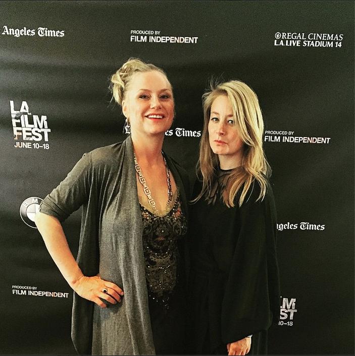 Actress Malin Levanon and Director Beata Gardeler at Flocking Screening at LAFF