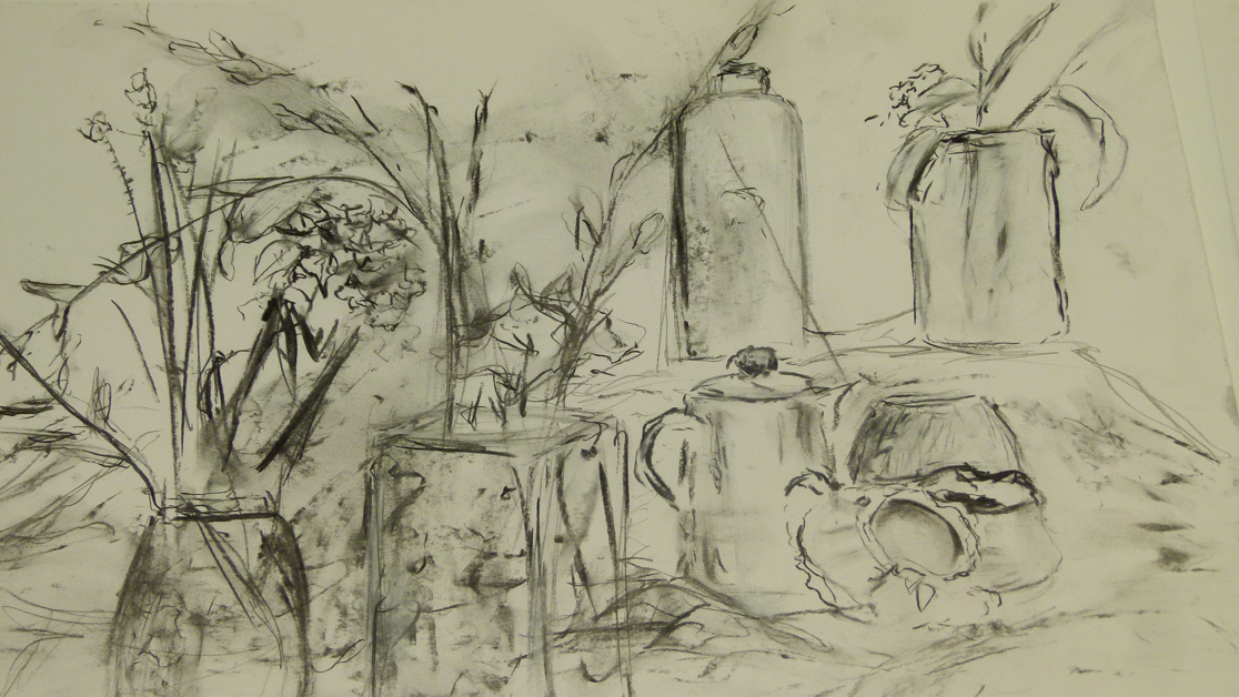 TWO DAY DRAWING & PAINTING SKILLS WORKSHOP 2014, THE WEALD SCHOOL BILLINGSHURST.