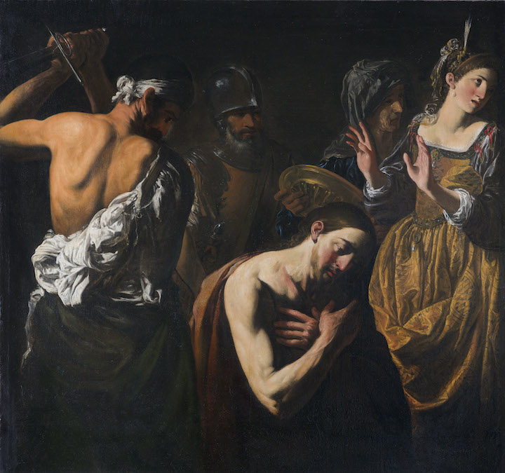 CARAVAGGESQUE MASTER   THE BEHEADING OF SAINT JOHN THE BAPTIST