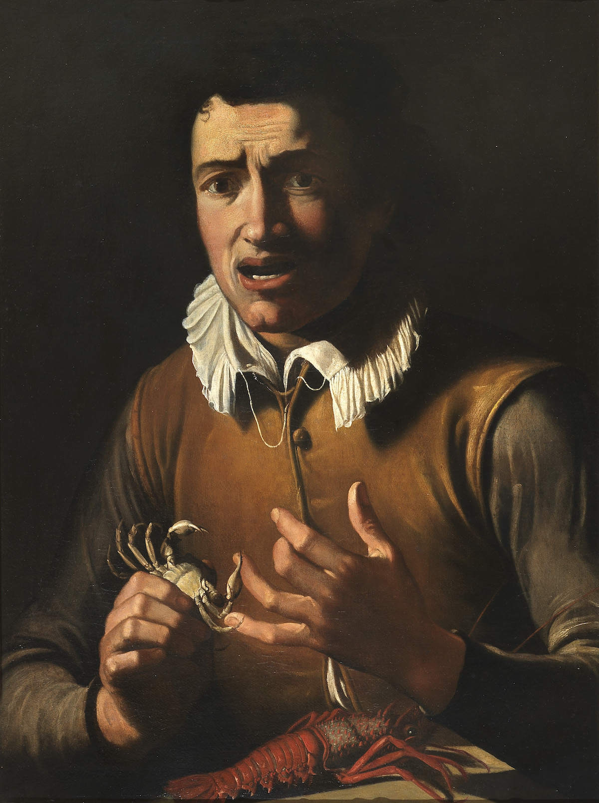 BARTOLOMEO CARVAROZZI, ATTRIBUTED TO   BOY BITTEN BY A CRAB