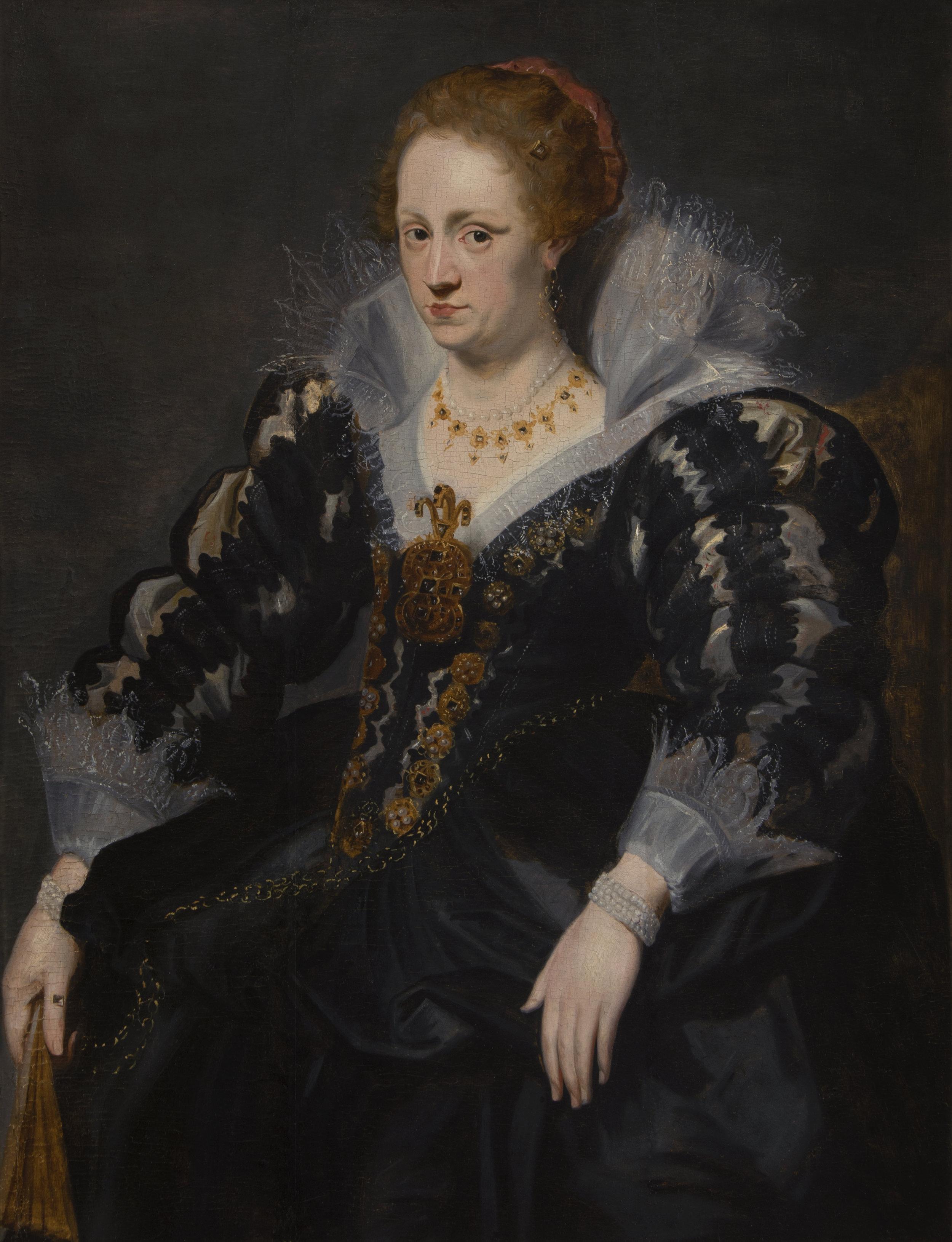 SIR ANTHONY VAN DYCK, ATT. TO   PORTRAIT OF JAQUELINE VAN CAESTRE, WIFE OF JEAN CHARLES DE CORDES