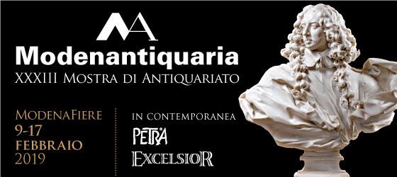 MODENANTIQUARIA 2019   February 9th - February 17th  www.modenatiquaria.it