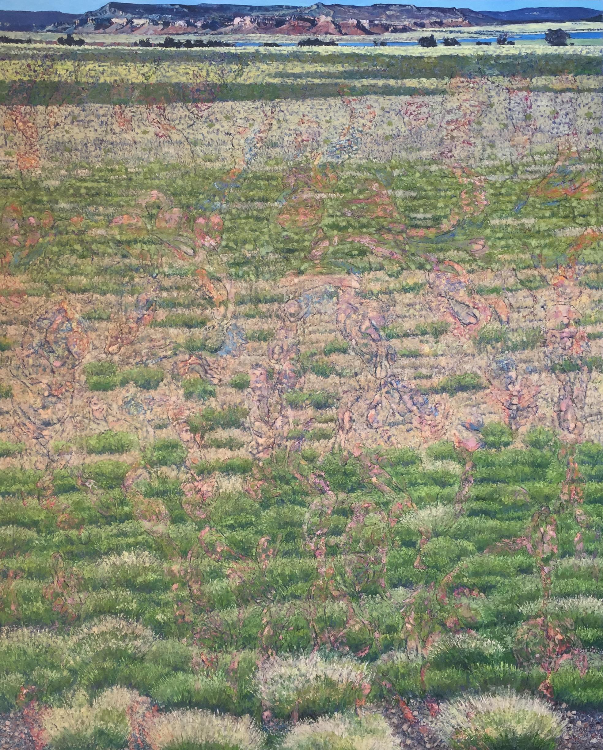 "Cogent Advancing Liminal Permutations 2015 oil on canvas 96"" x78"" cat no 15006"