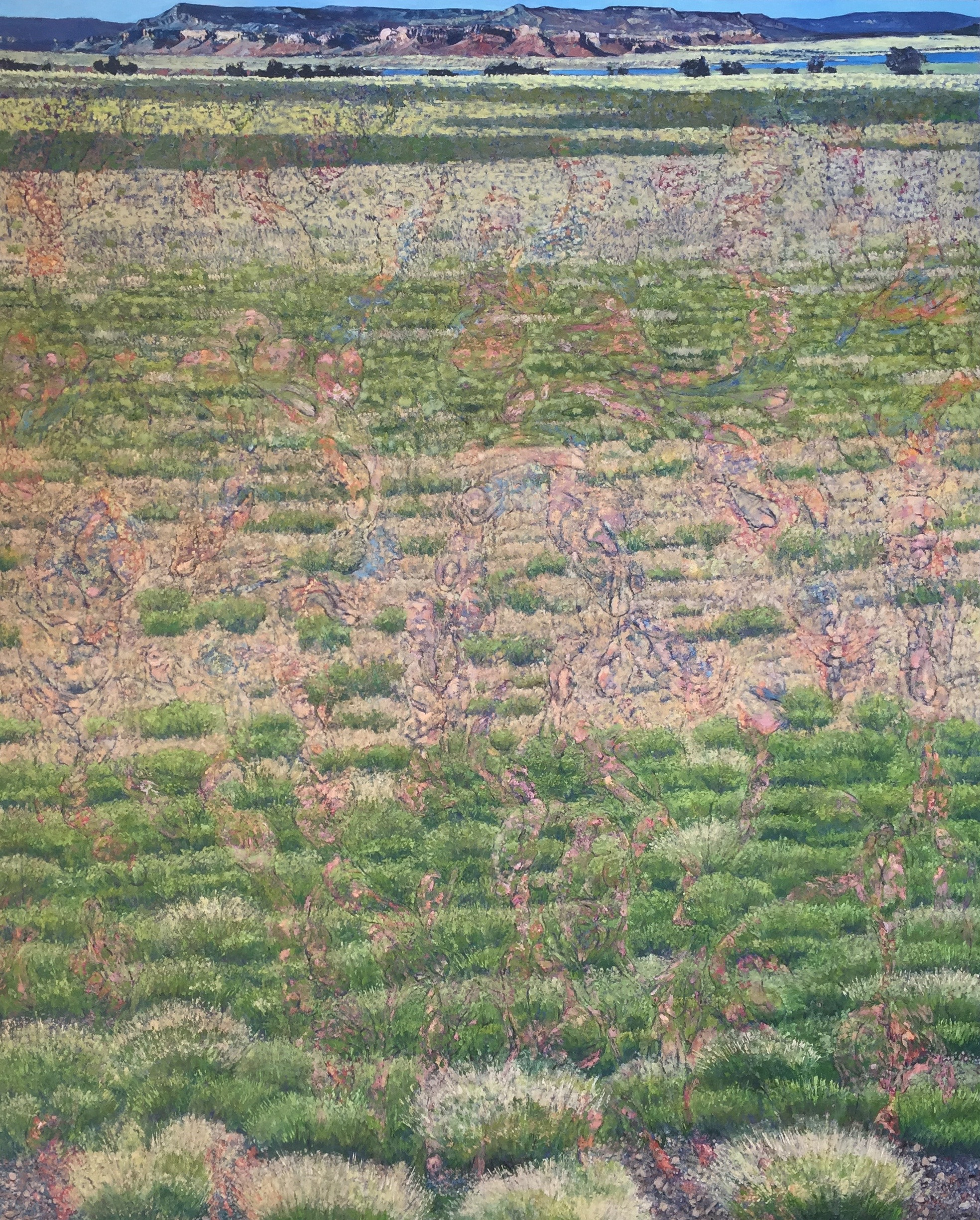 "Cogent Advancing Liminal Permutations 2015 oil on canvas 96"" x 78"" cat no 15006"