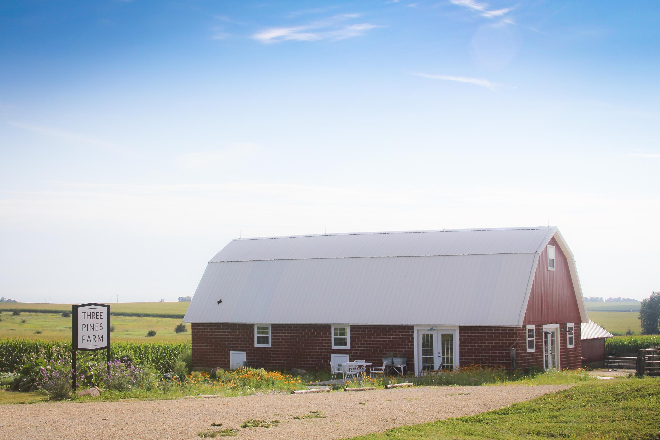 The studio at Three Pines Farm, August 8, 2015.