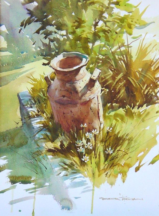 CREAM CAN  Watercolour  375mm x 270mm  NZ$180 plus P&P