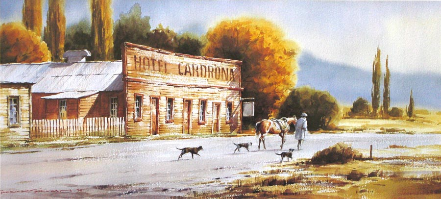 THE ROAD HOME, CARDRONA  Watercolour  510mm x 230mm  $40 plus P&P