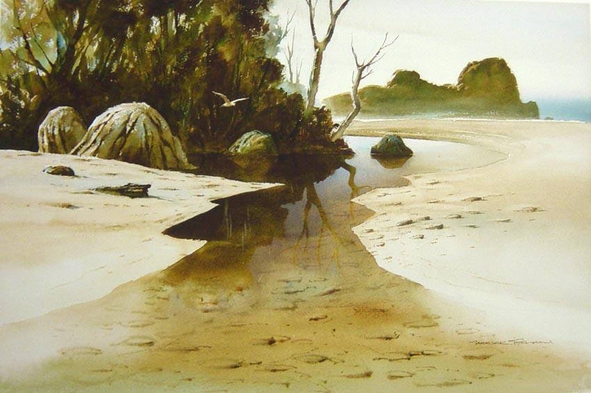 MILL CREEK, Stewart Island  Watercolour  370mm x 455mm  NZ$ 250 plus P&P