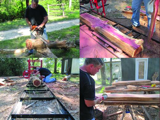 stepsWorking with cedar