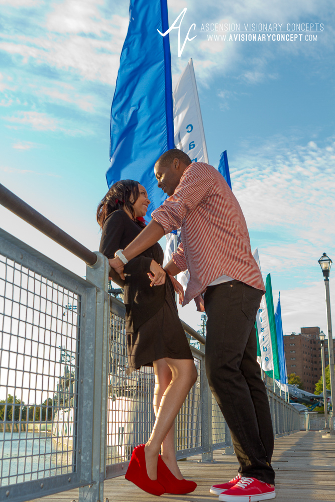 Buffalo Engagement Photography: Buffalo Inner Harbor, Canalside