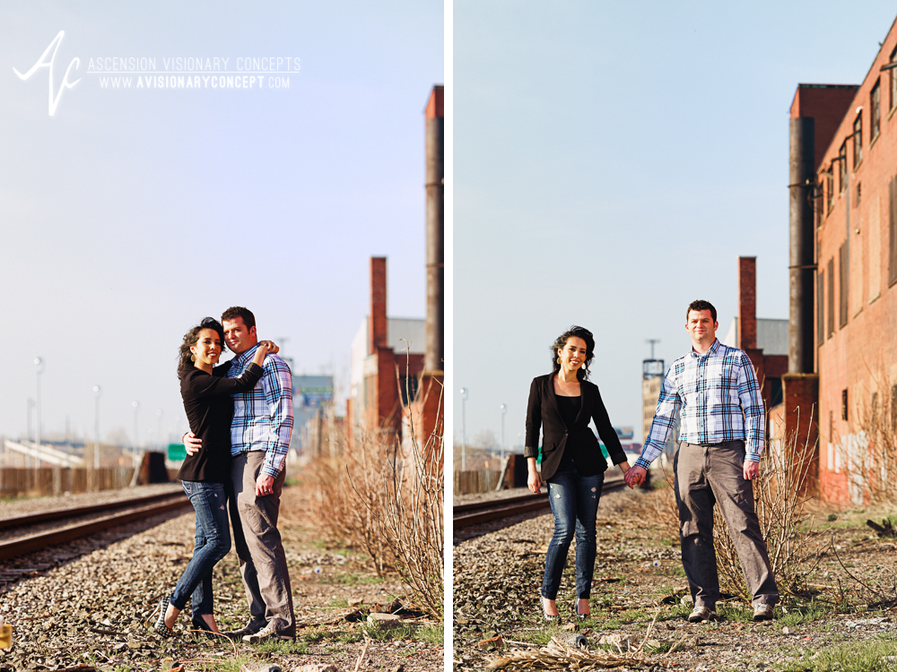 Buffalo Engagement Photography Urban City Anniversary Photography 004 Railroad Tracks.jpg