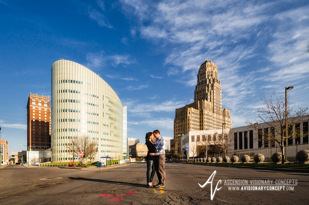 Buffalo Engagement Photography Urban City Anniversary Photography 008 Cityscape Architecture Downtown.jpg