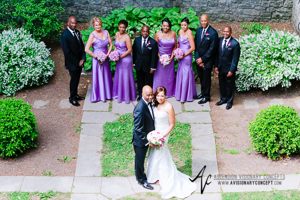 Rochester Wedding Photography 020 - Warner Castle Highland Park Sunken Garden Bridal Party.jpg
