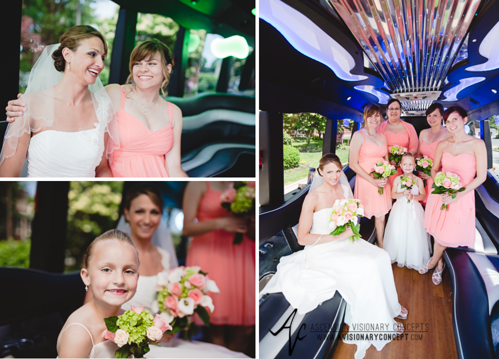 Buffalo Wedding Photography 01 Diamond Hawk Wedding - Bride Bridal Party Limo.jpg