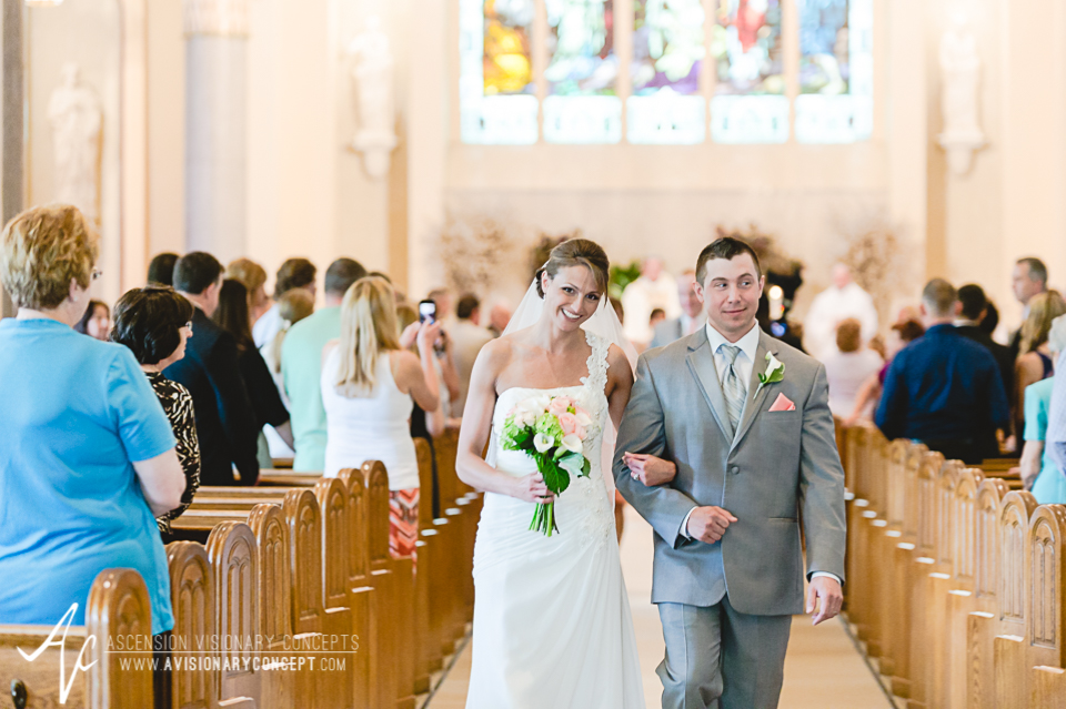 Buffalo Wedding Photography 10 Diamond Hawk Wedding - Bride and Groom Exit Ceremony.jpg