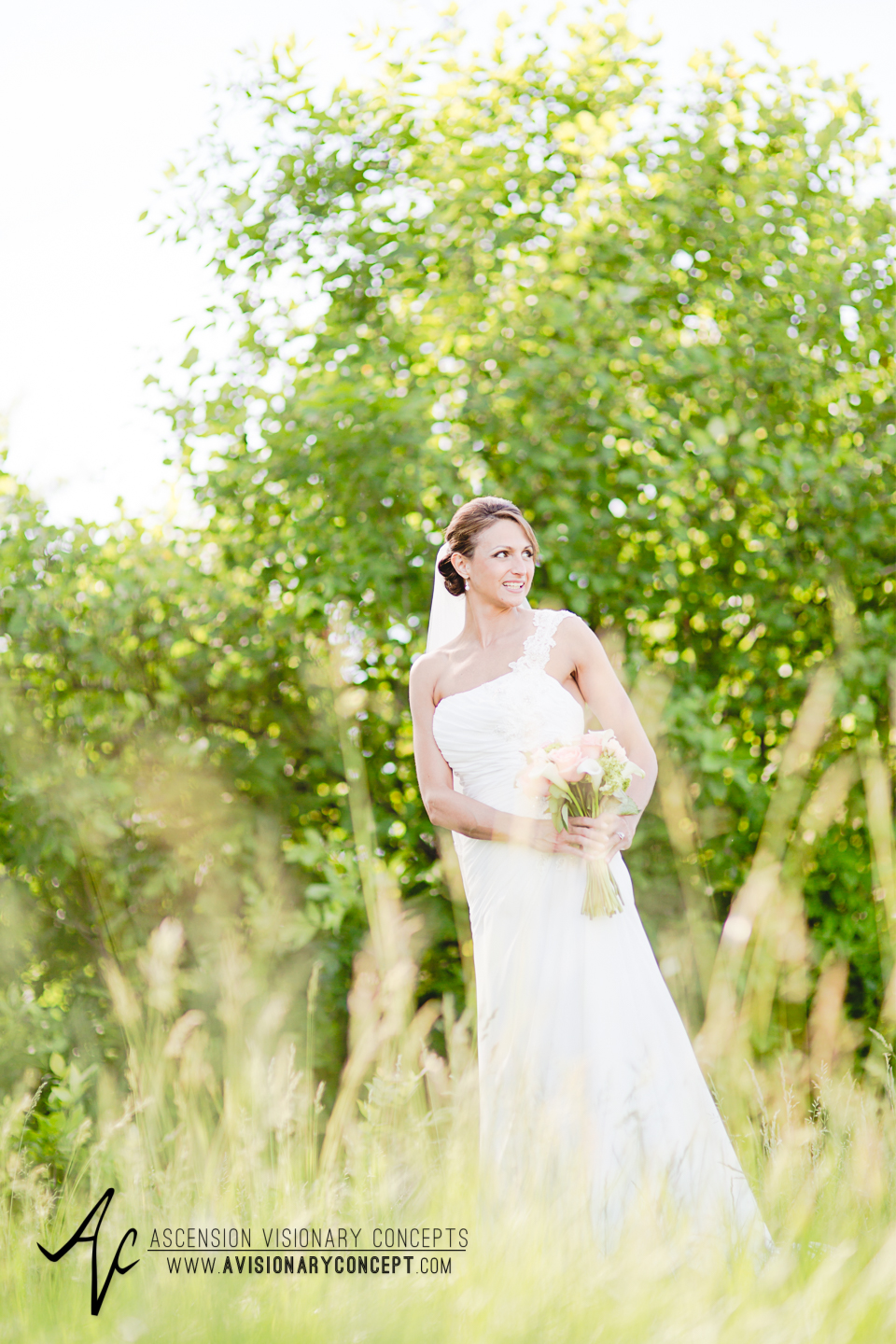 Buffalo Wedding Photography 23 Diamond Hawk Golf Course - Bride Tall Grasses Summer Fields.jpg