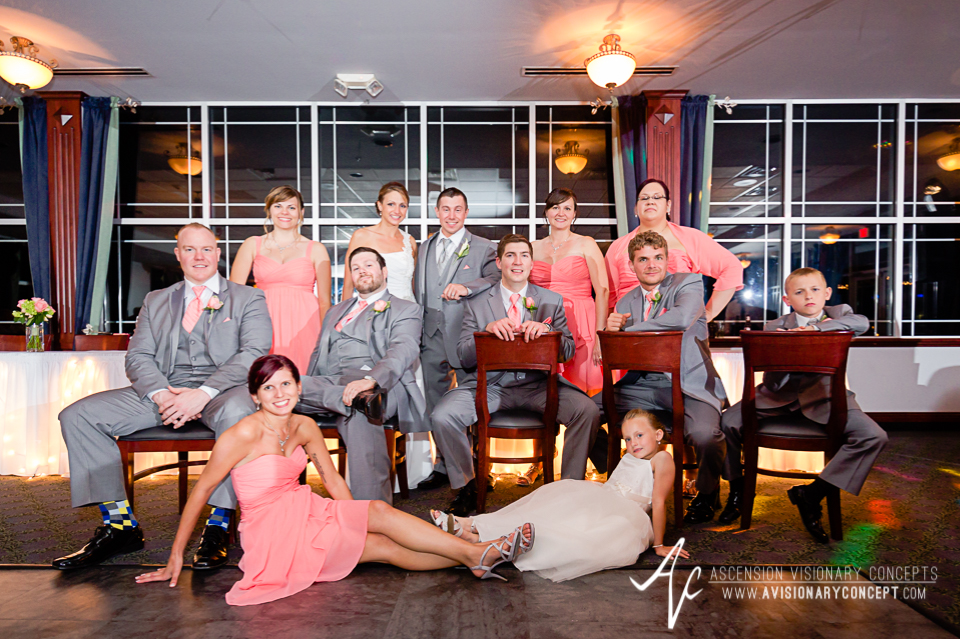 Buffalo Wedding Photography 53 Diamond Hawk Golf Course - Bridal Party Cool Pose