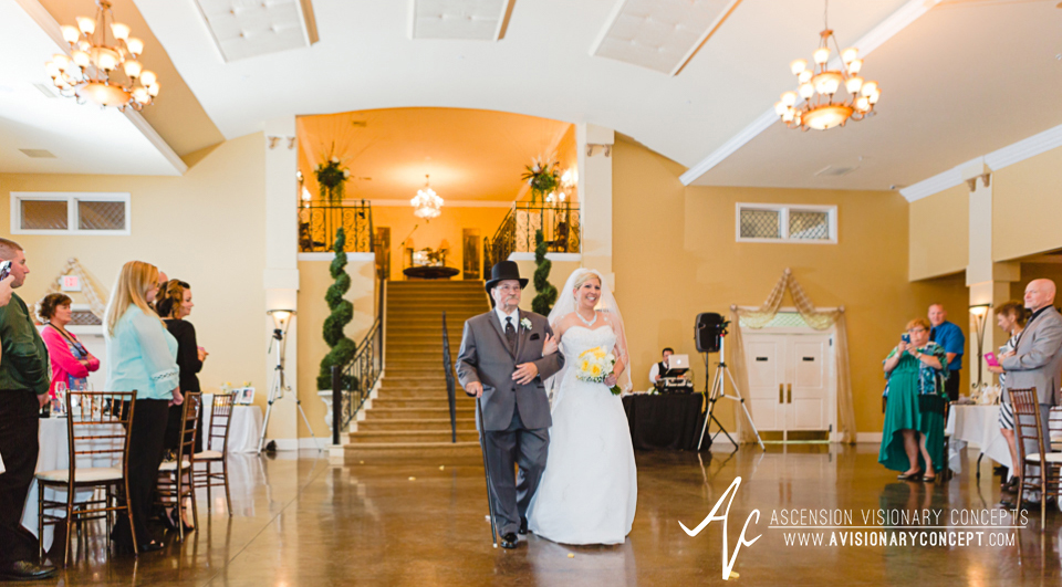 Buffalo Wedding Photography Avanti Mansion 26 Ceremony Brides Entrance Father Escorting Bride.jpg