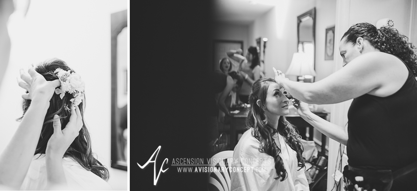 Buffalo Wedding Photography Lockport Locks Wedding 01 - Bride Getting Ready Flower Hairpin.jpg