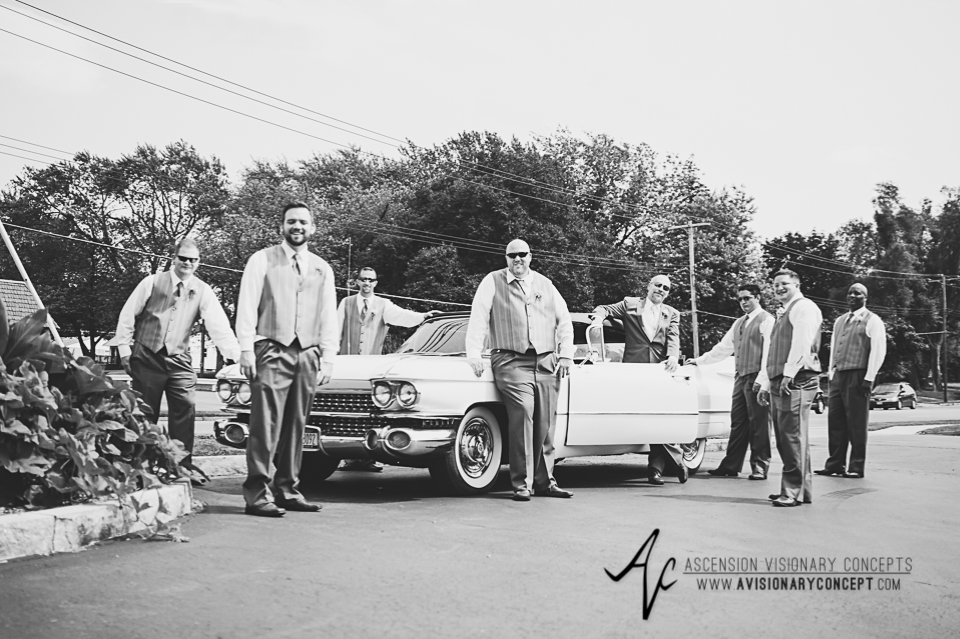 Buffalo Wedding Photography Lockport Locks Wedding 11 - Groomsmen Classic Car.jpg