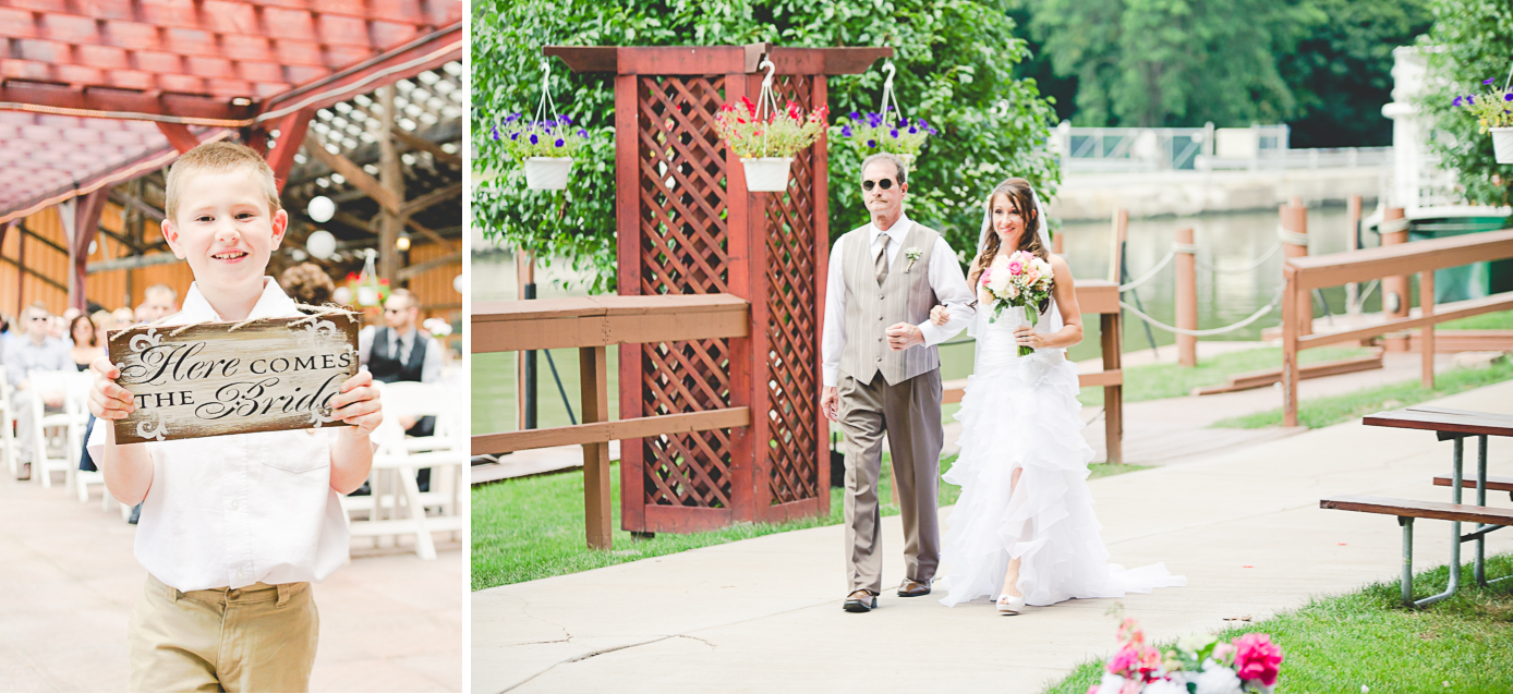 Buffalo Wedding Photography Lockport Locks Wedding 13 - Canalside Grove Outdoor Pavilion Here Comes the Bride.jpg