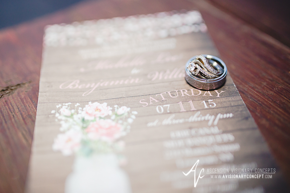 Buffalo Wedding Photography Lockport Locks Wedding 55 - Canalside Grove Outdoor Pavilion Wedding Ring Shot Invitation.jpg