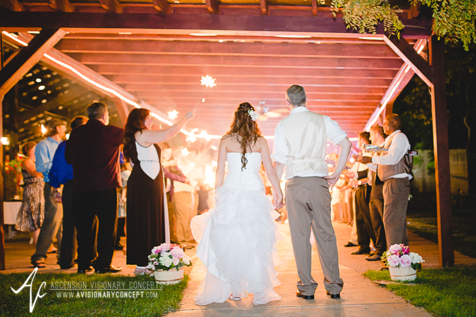 Buffalo Wedding Photography Lockport Locks Wedding 64 - Canalside Grove Outdoor Pavilion Wedding Reception Sparkler Dance.jpg