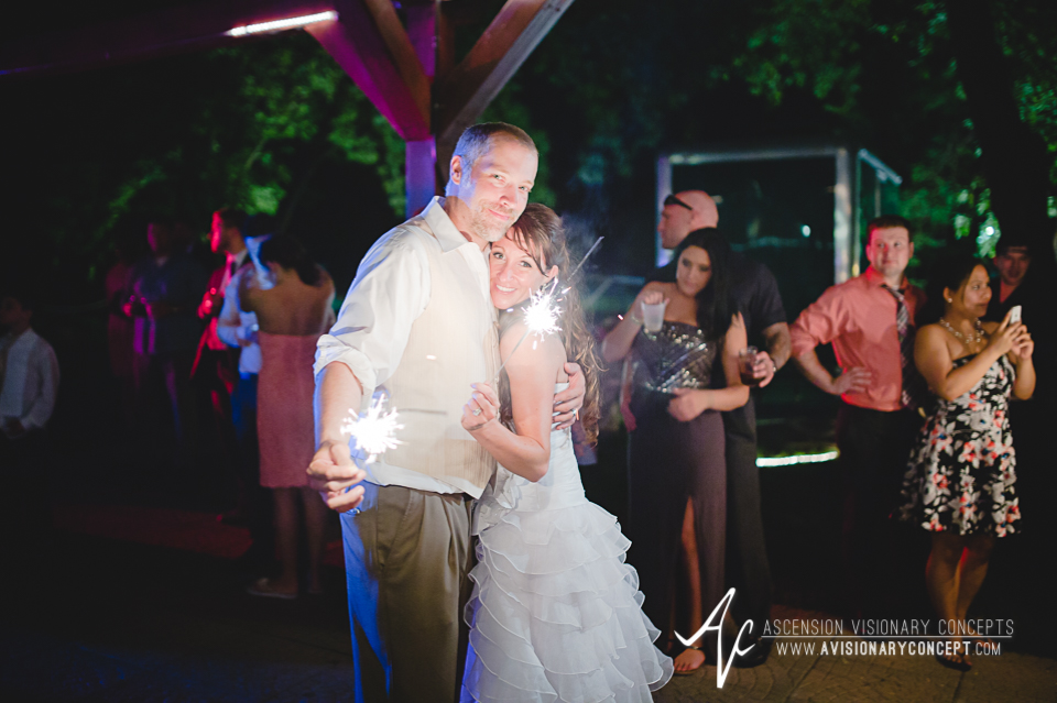 Buffalo Wedding Photography Lockport Locks Wedding 68 - Canalside Grove Outdoor Pavilion Wedding Reception Sparkler Dance.jpg