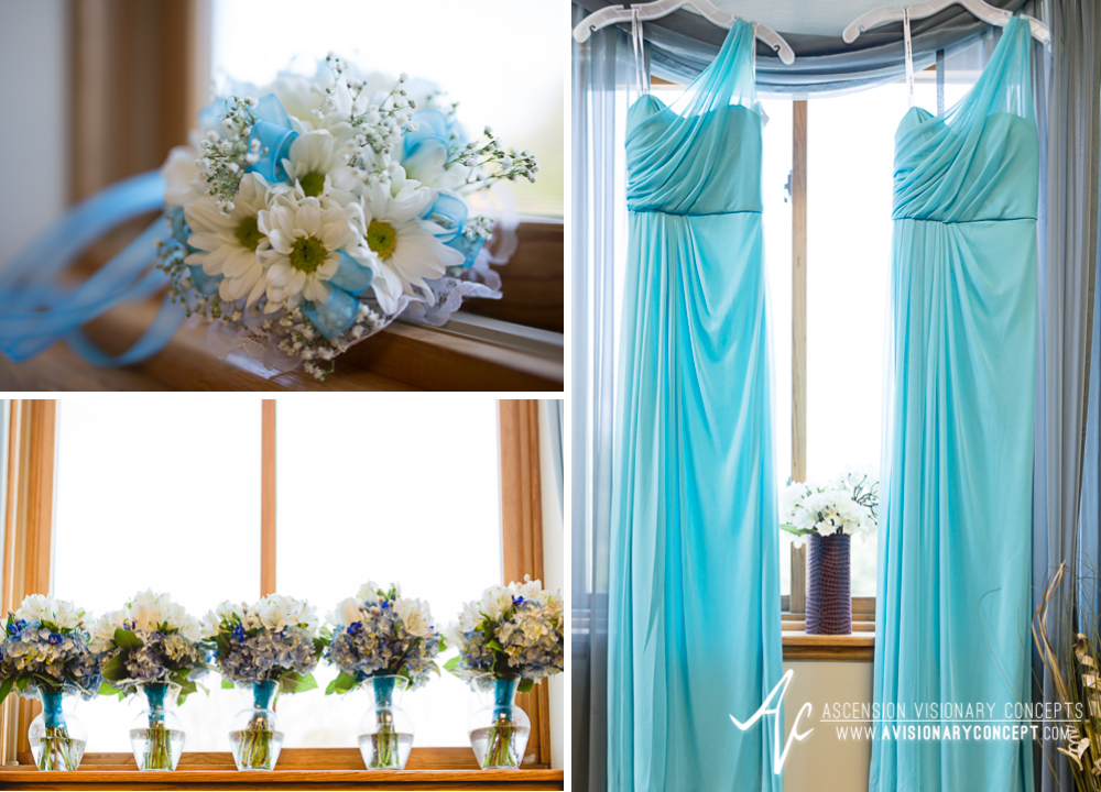 Rochester Wedding Photography Plantation Party House Spencerport Wedding 002 - Bridal Party Dresses Blue Turquoise Cyan.jpg