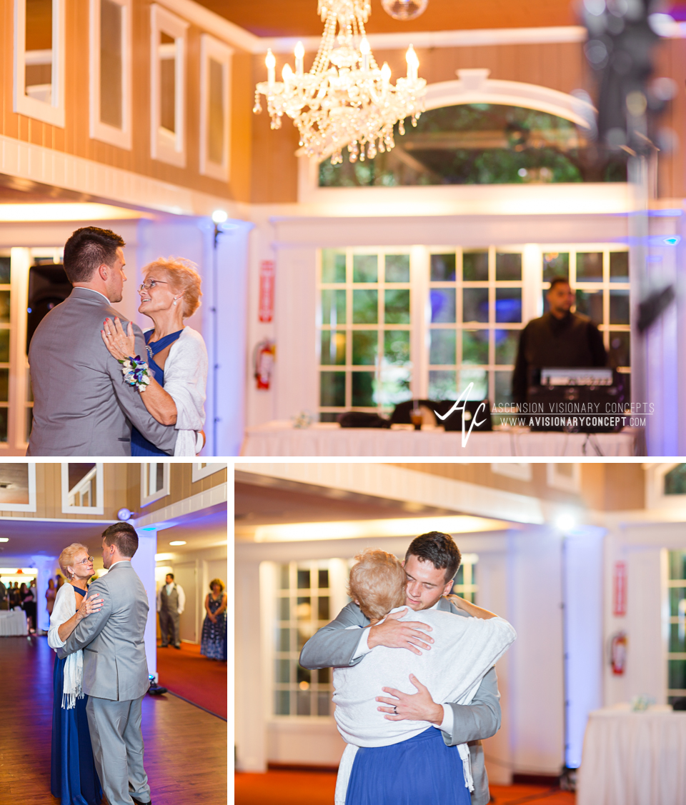 Rochester Wedding Photography Plantation Party House Spencerport Wedding 058 - Reception Mother Son Dance.jpg