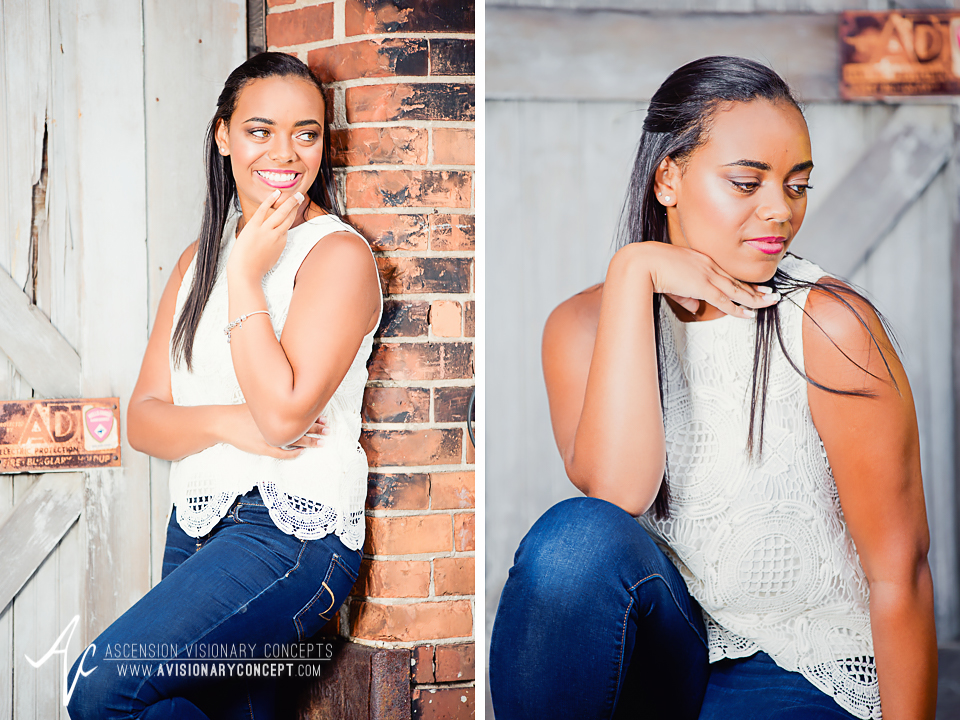 Buffalo Senior Photography Class of 2016 004 Downtown Buffalo Cobblestone District African American Teenage Girl Crochet Blouse Blue Jeans Hazel Eyes.jpg