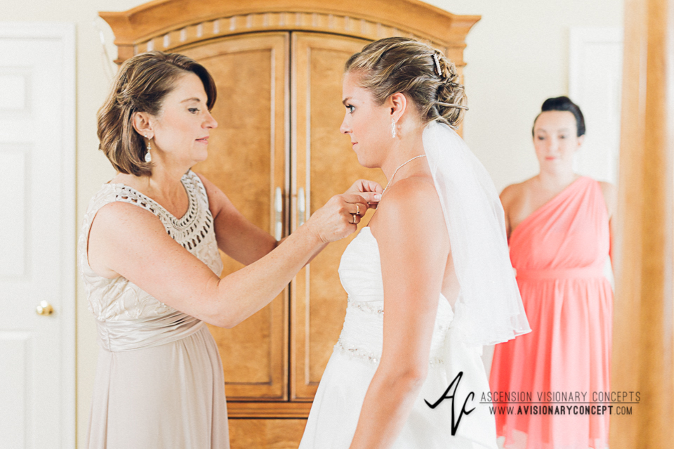 Buffalo Wedding Photography Orchard Park Country Club 010 - Bride Getting Ready Getting Dressed Alfred Angelo Wedding Dress.jpg