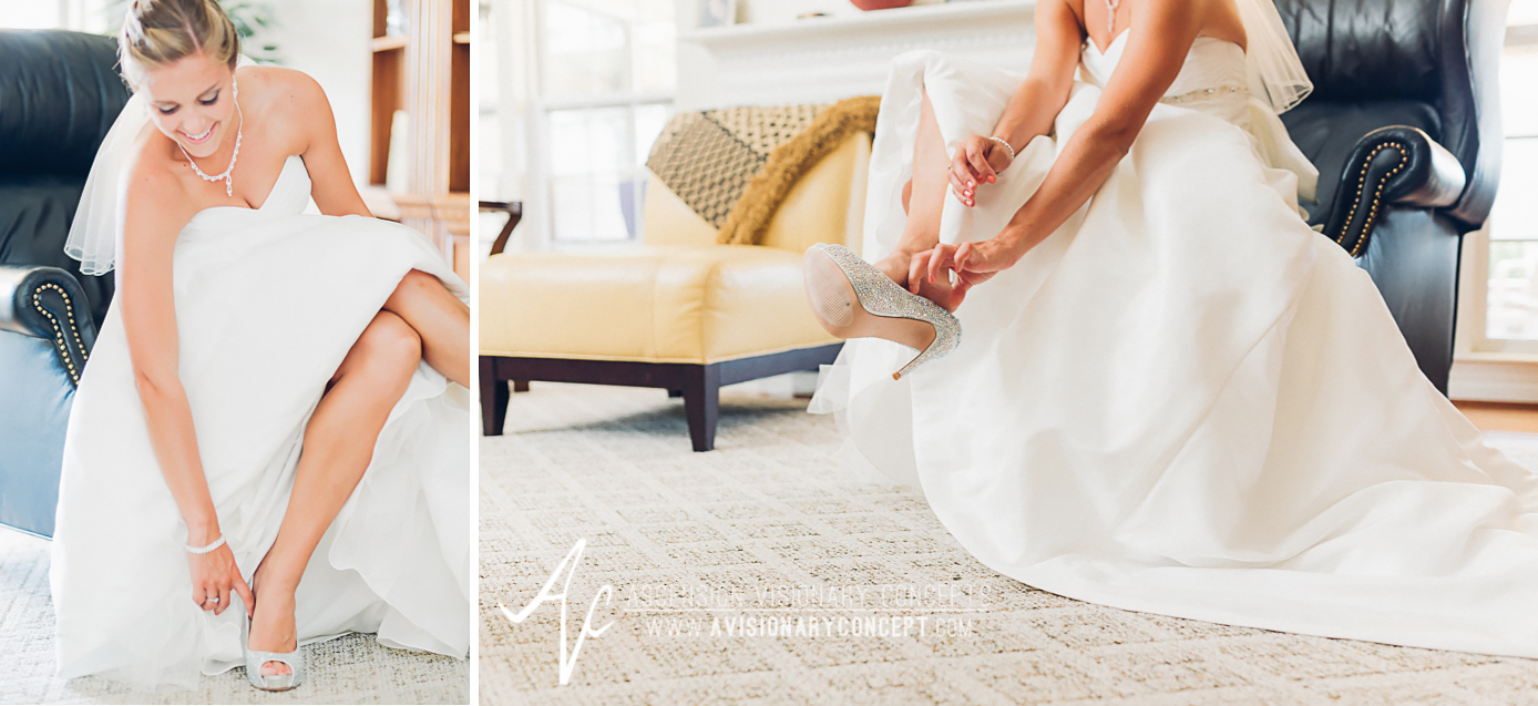 Buffalo Wedding Photography Orchard Park Country Club 012 - Bride Getting Ready Steve Madden Sequen Shoes.jpg