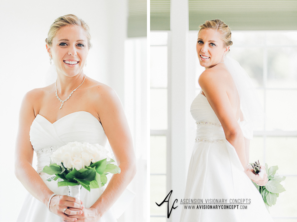 Buffalo Wedding Photography Orchard Park Country Club 019 - Beautiful Bride Portraits Alfred Angelo Dress White Rose Bouquet.jpg